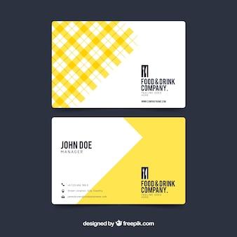 Abstrakte gelbe visitenkarte