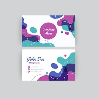 Abstrakte gemalte visitenkarte