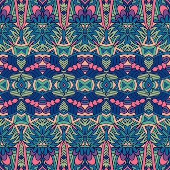 Abstrakte geometrie buntes ethnisches geometrisches psychedelisches druckdesign