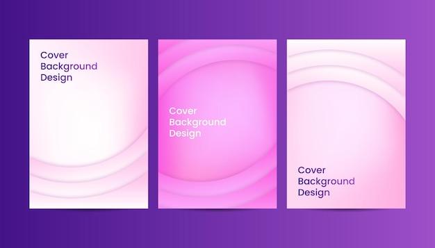 Abstrakte geometrische abdeckungshintergrundsteigungsrosa-designschablonen.