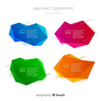 Abstrakte geometrische banner