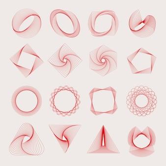 Abstrakte geometrische elemente vektor festgelegt