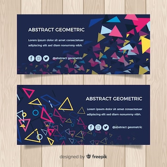 Abstrakte geometrische fahne