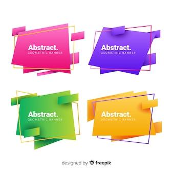 Abstrakte geometrische fahnenset