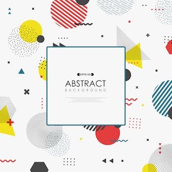 Abstrakte geometrische farbe memphis formt hintergrund
