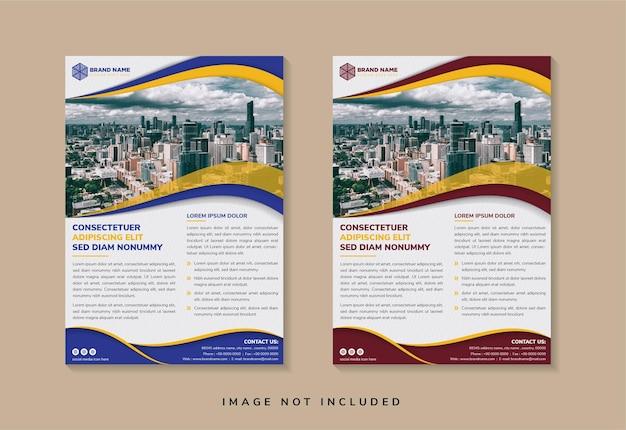 Abstrakte geometrische flyer vorlage design verwenden platz für foto. vertikales layout.