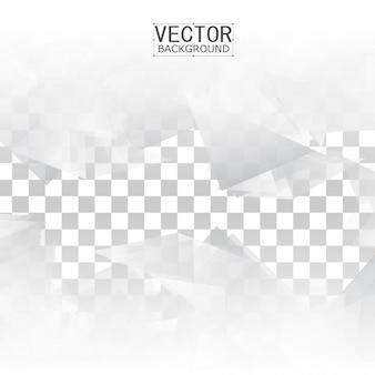 Abstrakte geometrische form aus grauem dreieck.