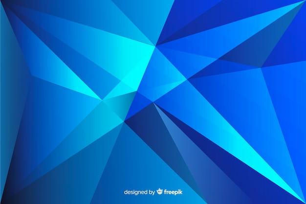 Abstrakte geometrische form im blauen schattenhintergrund