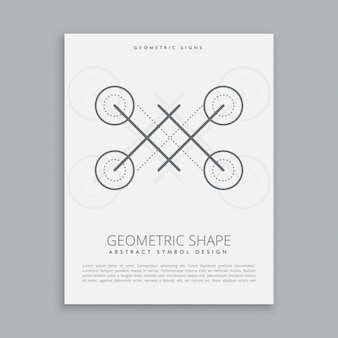 Abstrakte geometrische form pförtner
