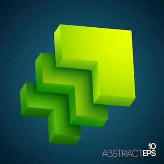 Abstrakte geometrische formen 3d