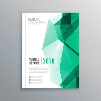 Abstrakte geometrische formen grün business-broschüre vorlage