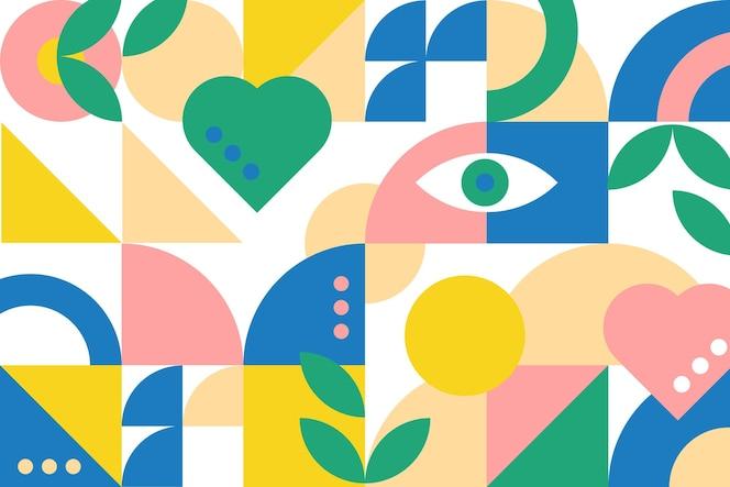 Abstrakte geometrische Formen im flachen Design
