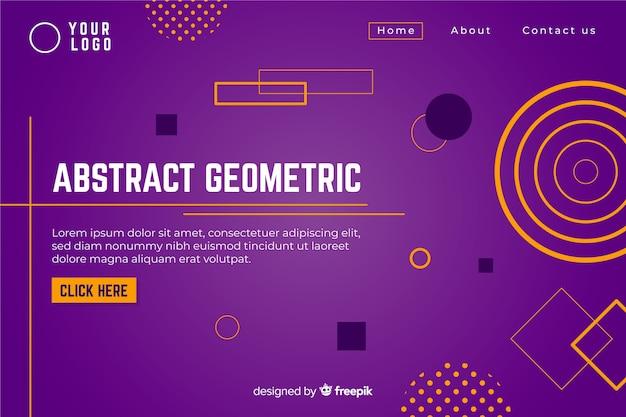 Abstrakte geometrische formlandungsseitenschablone