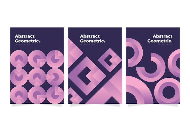 Abstrakte geometrische geschäftsabdeckungssammlung