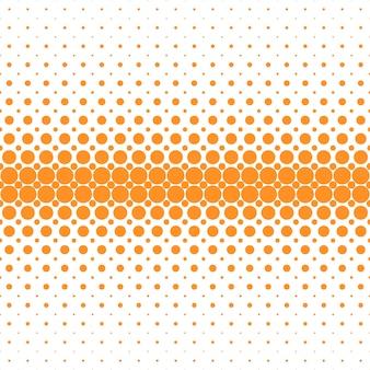 Abstrakte geometrische halbton punktmuster hintergrund - vektorgrafik aus orangefarbenen kreisen auf weißem hintergrund