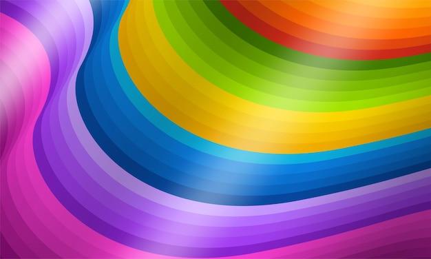 Abstrakte geometrische hintergründe in voller farbe