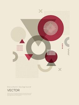 Abstrakte geometrische hintergrundauslegung