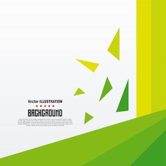 Abstrakte geometrische hintergrundfahne vektorillustration