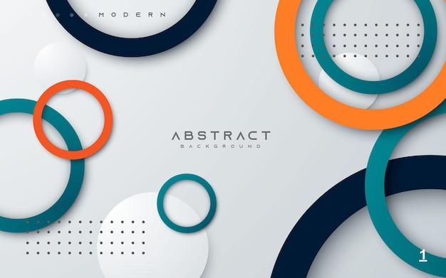 Abstrakte geometrische hintergrundkreisringfarbform