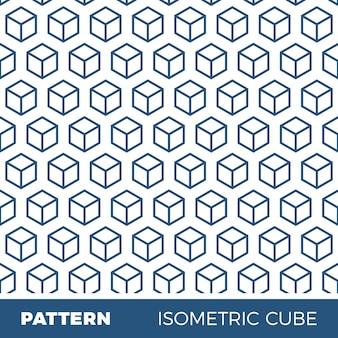 Abstrakte geometrische hintergrundmuster mit isometrischen würfel