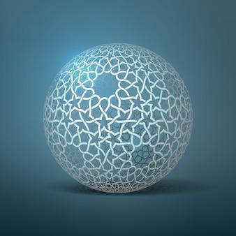 Abstrakte geometrische kugel