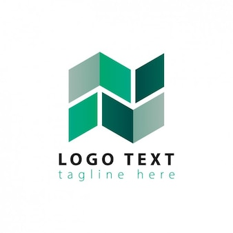 Abstrakte geometrische logo in den grünen tönen