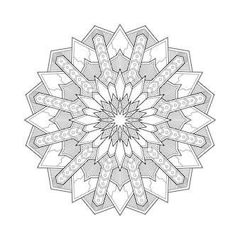Abstrakte geometrische mandala arabesque malvorlage buchillustration. t-shirt. blumentapetenhintergrund