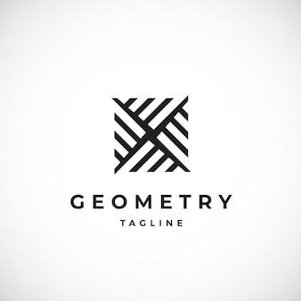 Abstrakte geometrische minimale vektorzeichen-, symbol- oder logo-vorlage. modernes konzept-emblem