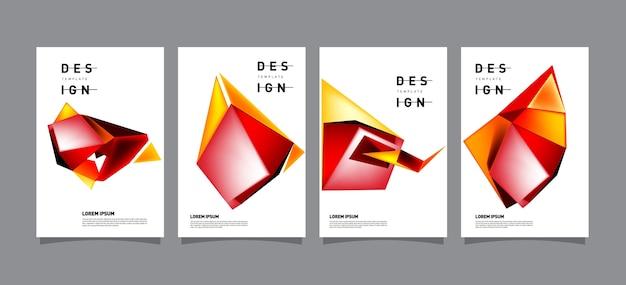 Abstrakte geometrische plakat-entwurfsvorlage