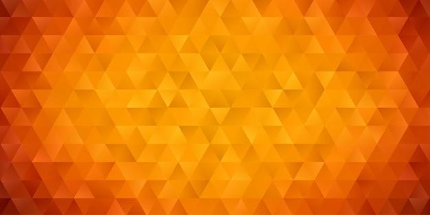 Abstrakte geometrische polygonhintergrundtapete. kopfabdeckung mit dreiecksform niedrig polly bunt gelb