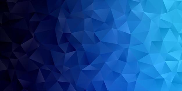 Abstrakte geometrische polygonhintergrundtapete. kopfbedeckung mit dreiecksform niedrig polly blau