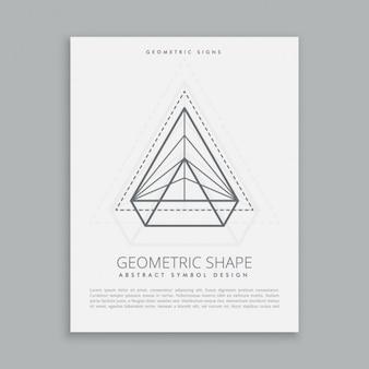 Abstrakte geometrische symbol