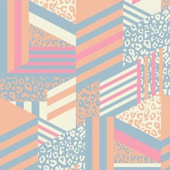Abstrakte geometrische tiermustermischung