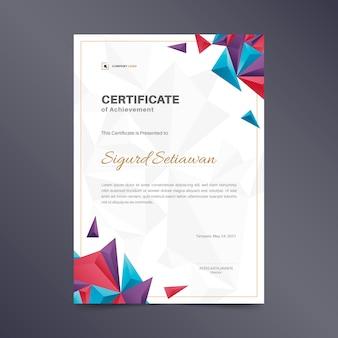 Abstrakte geometrische zertifikatvorlage