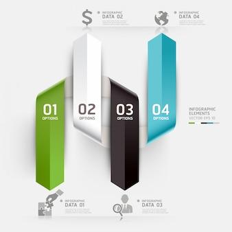 Abstrakte geschäft infografiken vorlage kann für workflow-layout, diagramm, anzahl optionen, optionen, webdesign, infografiken steigern verwendet werden.