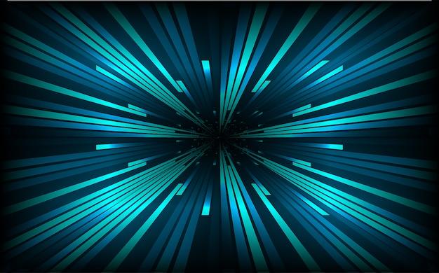 Abstrakte geschwindigkeit zeichnet hintergrund. dunkelblauer zoom radiale bewegung bewegen