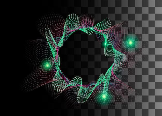 Abstrakte gestaltungselement grün und lila farbeffekt-vektor-illustration auf transparentem hintergrund.