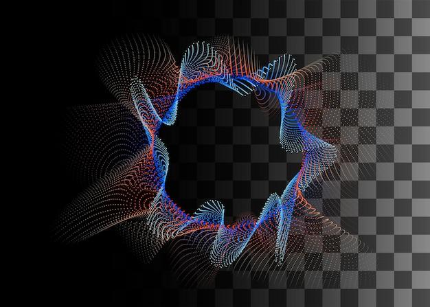 Abstrakte gestaltungselement orange und blaue farbeffekt-vektor-illustration auf transparentem hintergrund.