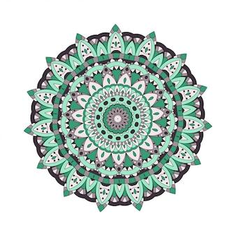 Abstrakte gestaltungselemente. runde mandalas im vektor. grafikvorlage für ihr design. dekorative retro-verzierung