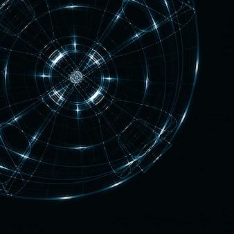 Abstrakte glänzende technologie