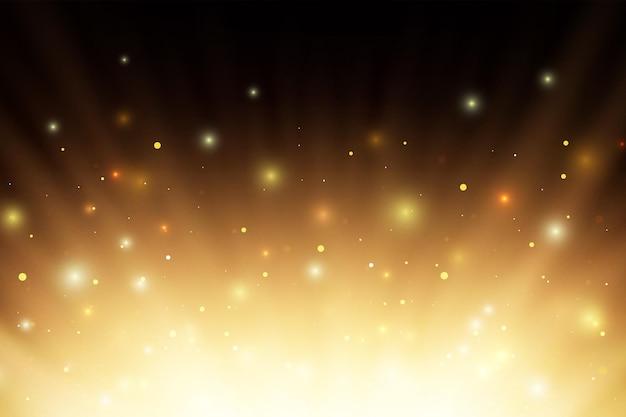 Abstrakte glühende brennende feuerlichtstrahlen mit sparcs und partikeln über schwarzem hintergrund.