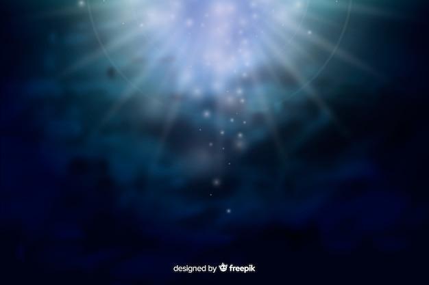 Abstrakte glühende galaxie am nachthintergrund