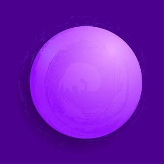 Abstrakte glühende magische kugel des vektors. konzept des planeten 3d