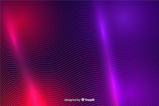 Abstrakte glühende partikel formen hintergrund