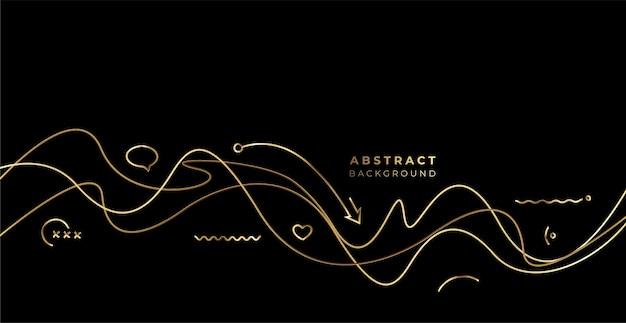 Abstrakte gold wave-linie mit platz für ihren text, vektor-illustration.