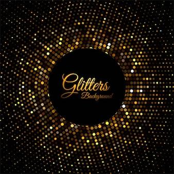 Abstrakte goldene glitzerpartikel