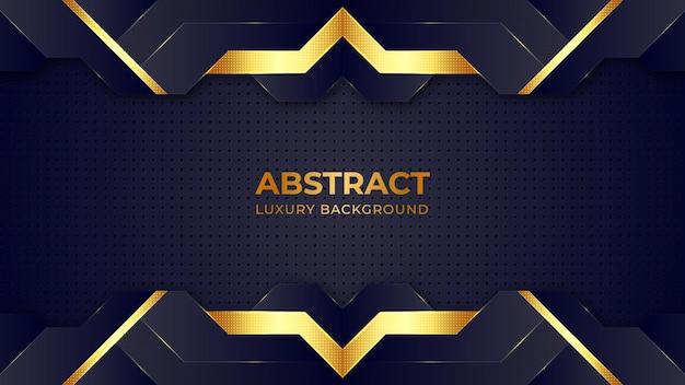 Abstrakte goldene halbtonmuster-luxushintergrund-entwurfsschablone