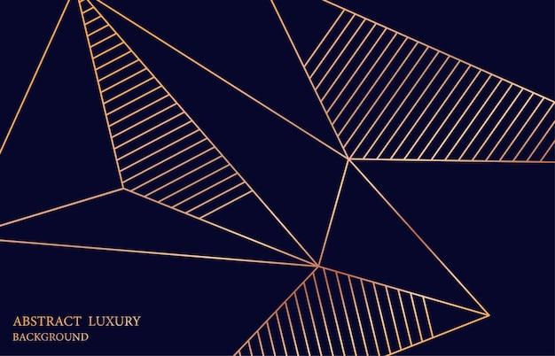 Abstrakte goldene linie glänzendes design auf blauem schablonenhintergrund. dekorieren sie für hintergrunddesign-kunstwerke. illustrationsvektor