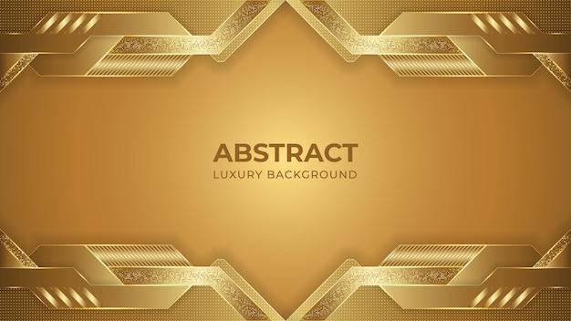 Abstrakte goldene luxushintergrundschablone Premium Vektoren