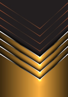 Abstrakte Goldsilberpfeilrichtung auf dunkelgrauen Hintergrund.